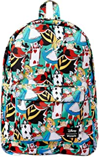 x Disney Alice in Wonderland Cards Allover-Print Nylon Backpack (Multicolored, One Size)