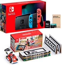 $599 » NS Console and Kart Holiday Combo: Switch Red Blue Joy-Con 32GB Console, Mario Kart Live: Home Circuit Mario Set, Mytrix 1...