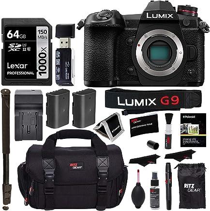 "$1197 » Panasonic Lumix G9 Mirrorless Camera Body 20.3 MP G9KBODY, Lexar 64GB High Speed SD Card U3, Polaroid 72"" Monopod, Spare Battery, Battery Charger, Ritz Gear Cleaning Kit and Accessory Bundle"