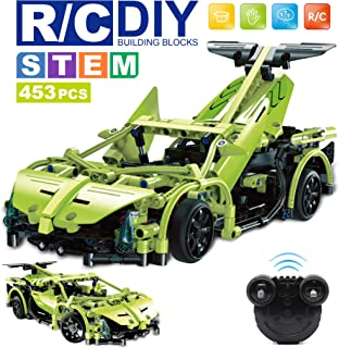 WisePlay STEM RC Car Building Kit, Remote Control Car for Boys 8-12, 453pc Stem Building Sets for Boys 8-12, Best Birthday Toy Gift for 8, 9, 10, 11, and 12 Year Old Boys