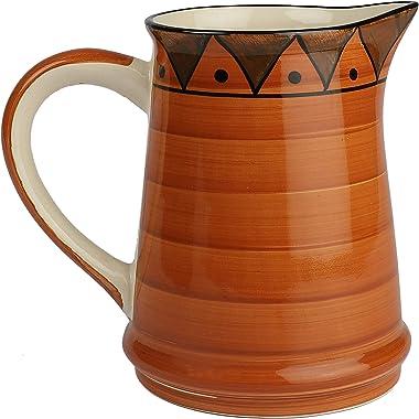 Crok Chok Hand Painted Studio Pottery Ceramic Milk & Water Jugs for Dining Table (1500 ML, Microwave Safe) - Ceramic Jugs