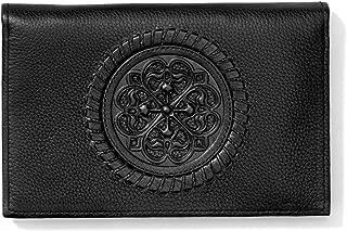 Brighton Ferrara Black Leather Folio Wallet