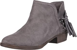 Rampage TIAAN Womens Side Cut Out Ankle Bootie With Decorative Side Tassle womens Ankle Boot