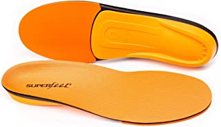 Superfeet ORANGE Insoles, High Arch Support and Forefoot Cushion Orthotic Insole for Anti-fatigue, Unisex, Orange