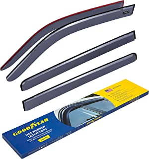 Goodyear Side Window Deflectors for Honda Pilot 2009-2015, Tape-on Rain Guards, Window Visors, 4 Pieces - GY003139