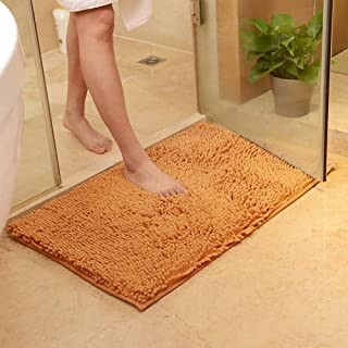 Caihong Bath Rug Original Luxury Chenille Bathroom Rug Mat (32'' X 20''), Extra Soft and Absorbent Shaggy Rugs, Machine Wash/Dry, Perfect Plush Carpet Mats for Tub, Shower, and Bath Room - Champagne