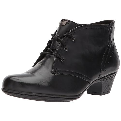 71f0ae7fa6626b Women s Ankle Boots Black Leather  Amazon.com