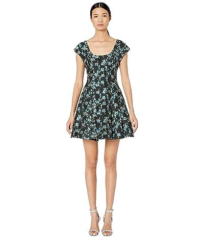 ZAC Zac Posen Charleston Dress (Black/Pool Blue) Women