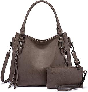 Realer Damen Handtaschen Groß Shopper Lederhandtasche Schultertasche Umhängetasche Geldbörse Hobo Damen Taschen Set 2pcs T...
