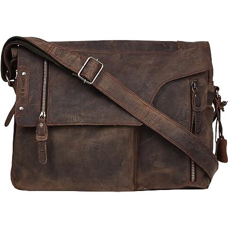 Greenburry Umhängetasche Damen Leder Shopper Ledertasche Vintage braun Tasche