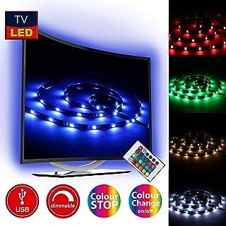 Briloner Leuchten 2353 – 024, 2 m LED TV iluminación, cinta de LED,