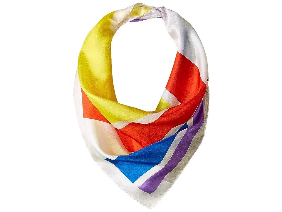 Rebecca Minkoff Love Stripe Bandana (White) Scarves