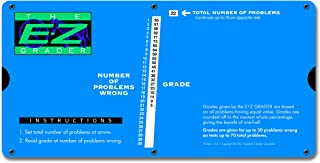 E-Z Grader 7200 Large Print E-Z Grader, Educational Grading Chart, Computes Percentage Scores Up to 70 Questions, 10
