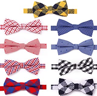 Freewindo Dog Bow Ties, 9pcs Adjustable Cat Bow Ties, Dog Bowties for Small Medium Large Dogs and Adult Cats