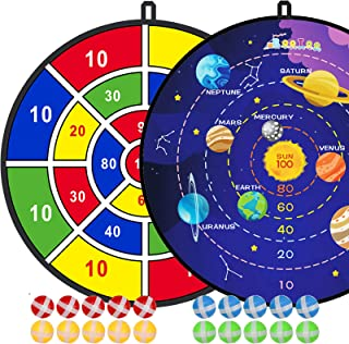 """2 Pack 29"""" Large Dart Board Game Set with 20 Sticky Balls, Indoor/Sport Outdoor Fun Party Play Games, Boys Girls Toys, Bir..."""