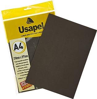Papel A4 Color Usapel Preto 180G - Pacote Com 50 Folhas, Filiperson, 25004, Multicolor