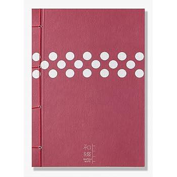 和綴じノート 赤水玉
