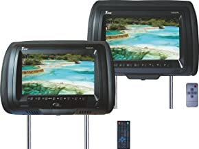 Tview T939DVPL-BK Car Headrest Monitor with DVD Player - Black