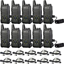 Retevis RT22S Two Way Radio,Rechargeable Walkie Talkies Adults,22 Channel Display 2 Way Radios Mini with Earpiece,VOX, Eme...