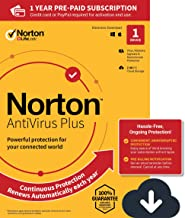 NEW Norton AntiVirus Plus – Antivirus software for 1 Device with Auto-Renewal - Includes Password Manager, Smart Firewall and PC Cloud Backup [PC/Mac/Mobile Download]