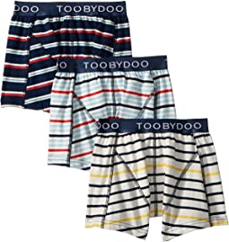 Multi Stripe Boxers Underwear 3-Pack (Infant/Toddler/Little Kids/Big Kids)