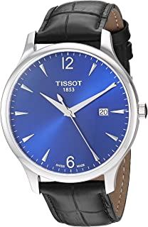Tissot mens Tradition Stainless Steel Dress Watch Silver T0636101604700