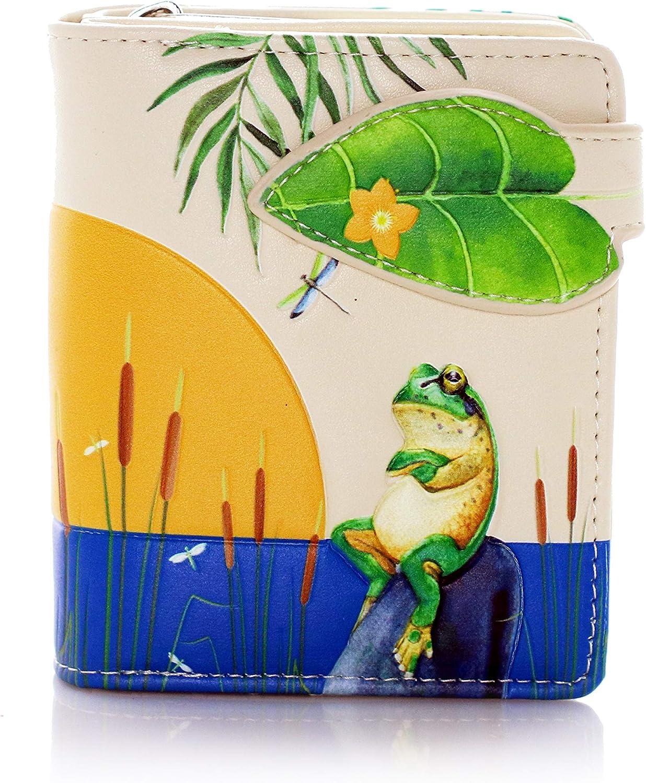 Shagwear Over item handling ☆ Sunset Frogs Small Women's Zipper Max 52% OFF Wallet