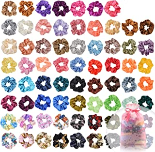 70 Pcs Hair Silk Scrunchies Satin Elastic Hair Bands Scrunchy Hair Ties Ropes Scrunchie for Women Girls Hair Accessories with Gift bag