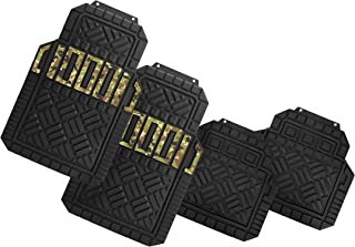 Suzec 131200 Car Foot/Floor Rubber Universal Mat with Military Finish (Set of 5, Black)