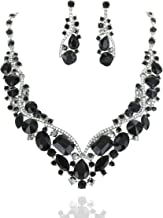 SP Sophia Collection Women's Wedding Bridal Austrian Crystal Rhinestone Necklace and Earrings Jewelry Set