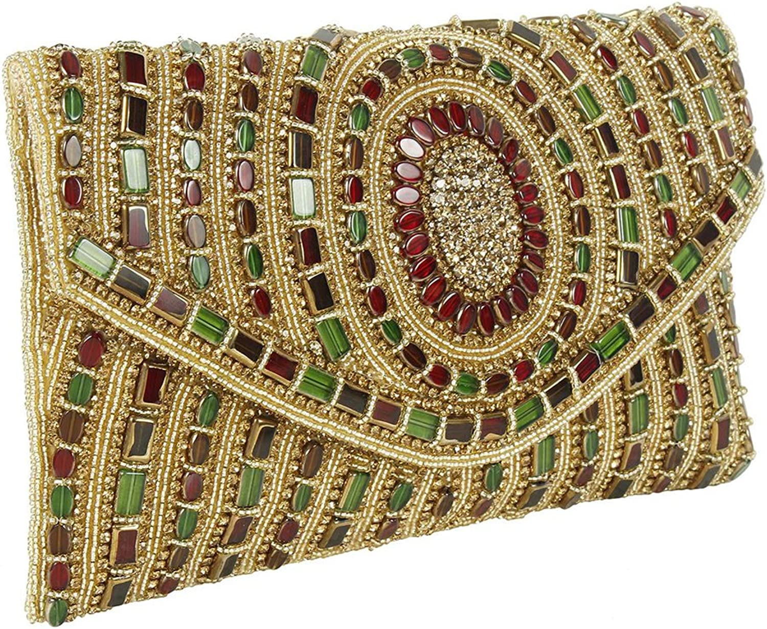 { Extra 10% Discount } Purse Collection Beautiful Multi Colour Handmade Beaded Clutch Purses For Women's