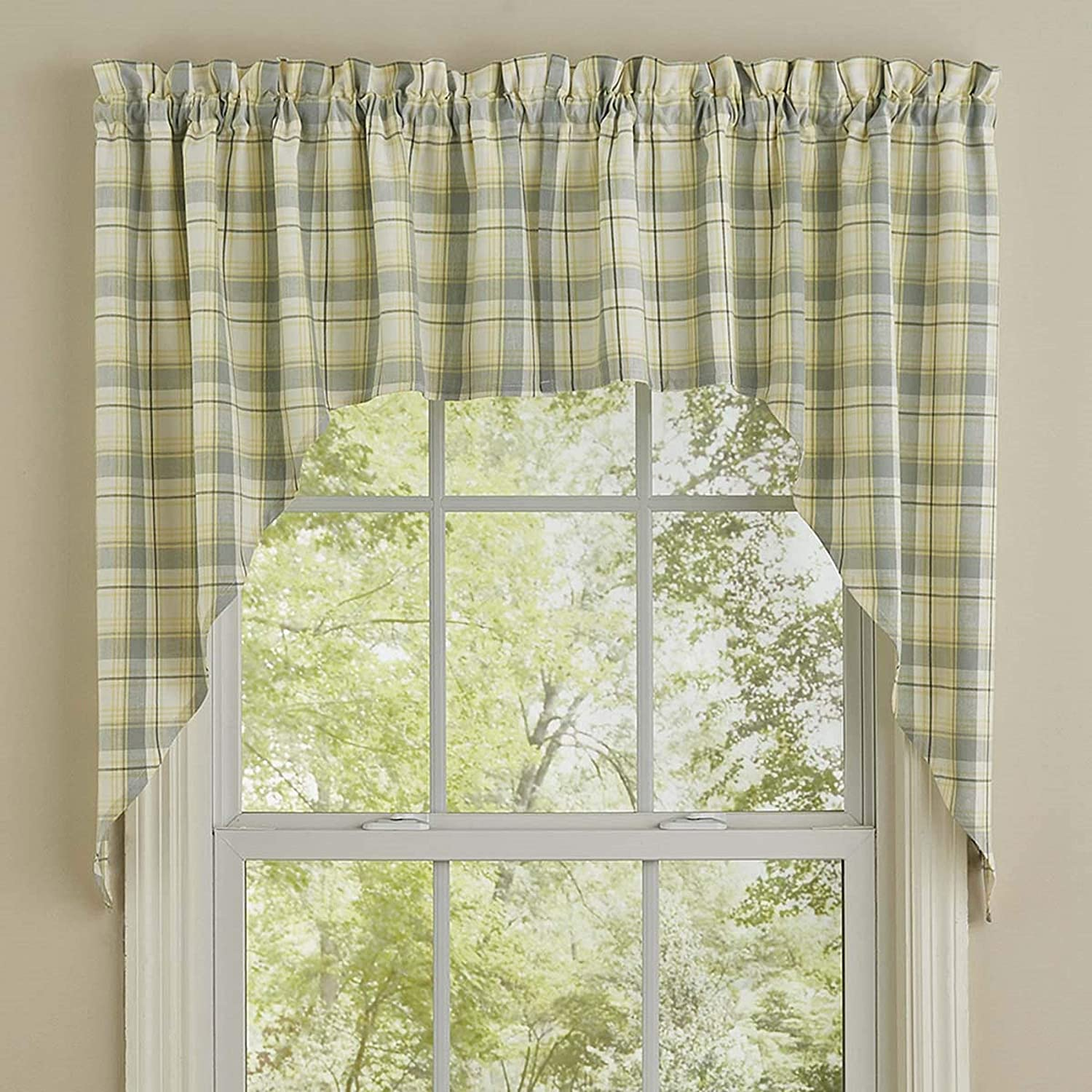 Park Designs Misty Free shipping Swag Plaid Max 65% OFF Morning