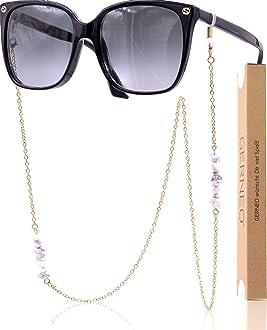 Barcelona einzigartig hochwertige Brillen Kette /& Brillenband f/ür Sonnenbrille /& Lesebrille GERNEO/® korrosionsbest/ändig Brillenkette mit Karabiner Maskenhalter /& Brillenkette Gold und Silber