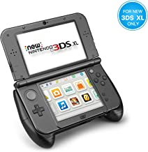TNP New Nintendo 3DS XL Hand Grip Protective Cover Skin Rubber Controller Grip Case Ergonomic Comfort Anti Slip Handle Console Grip with Kick-Stand for New Nintendo 3DS XL LL 2015 Model