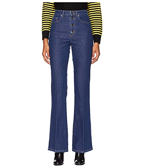 Sonia Rykiel Stretch High-Waisted Button Up Flare Jeans