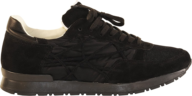 L4K3 shoes Sneakers Lake Unisex Mr Big Cube Nylon Suede Leather Black (35 EU - 2.5 UK)
