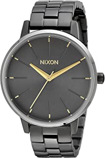 Nixon Women's Kensington Japanese-Quartz Watch with Stainless-Steel Strap, Grey, 16 (Model: A0992765)