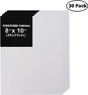 Belle Vous Paneles de Lienzo para Pintar (Pack de 30) - 20x25cm (8x10 inches) Lienzo Blanco Algodón – Panel Lienzo Pintura Artista con 3mm de Grosor – Perfecto para Pintura Acrílica y al Óleo