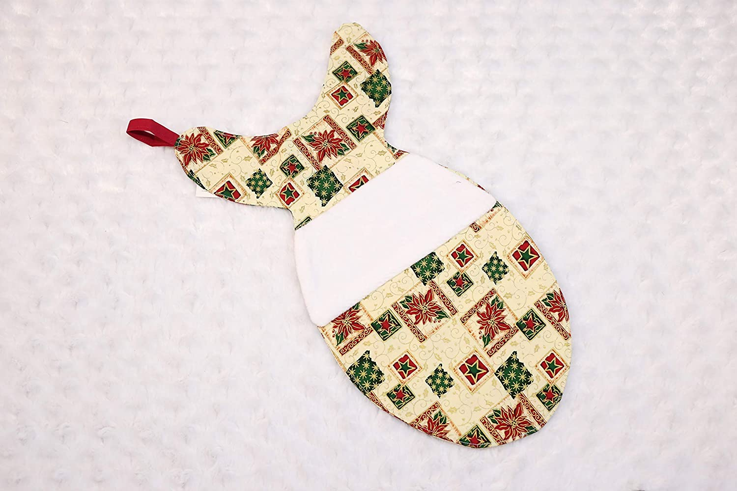Poinsettia Vintage Cat Rare Weekly update Fish Christmas Stocking