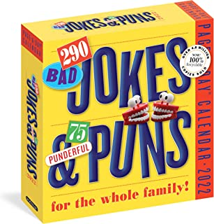 290 Bad Jokes & 75 Punderful Puns Page-A-Day Calendar 2022: Hilarious Puns, Knock-Knock Jokes, Silly Stories, and Riddles ...