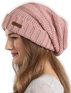 قبعة شتاء صغيرة مترهلة للنساء من Brook + Bay - قبعات منسوجة بكابل كبير الحجم - قبعة محبوكة مكتنزة دافئة للطقس البارد