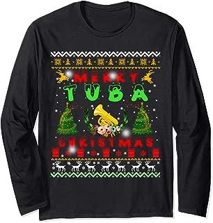 Santa Tuba Ugly Christmas Sweater Gifts Long Sleeve T-Shirt