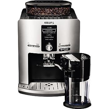 Krups EA82FE Independiente Totalmente Automática - Cafetera (Independiente, Máquina espresso, 1,7 L, Granos de café, Molinillo integrado, Plata): Amazon.es: Hogar