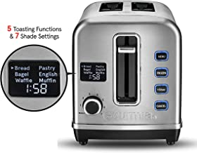 Gourmia GDT2650 - Multi-Function Digital Toaster with 5 Toast Functions, 7 Shade Settings, Rapid Reheat Mode and Extra Wide Slots