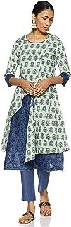 BIBA Women's synthetic anarkali Salwar Suit Set