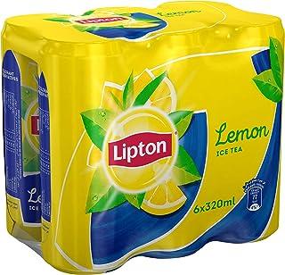 شاي ليبتون بالليمون، 320 مل، عبوة من 6 قطع