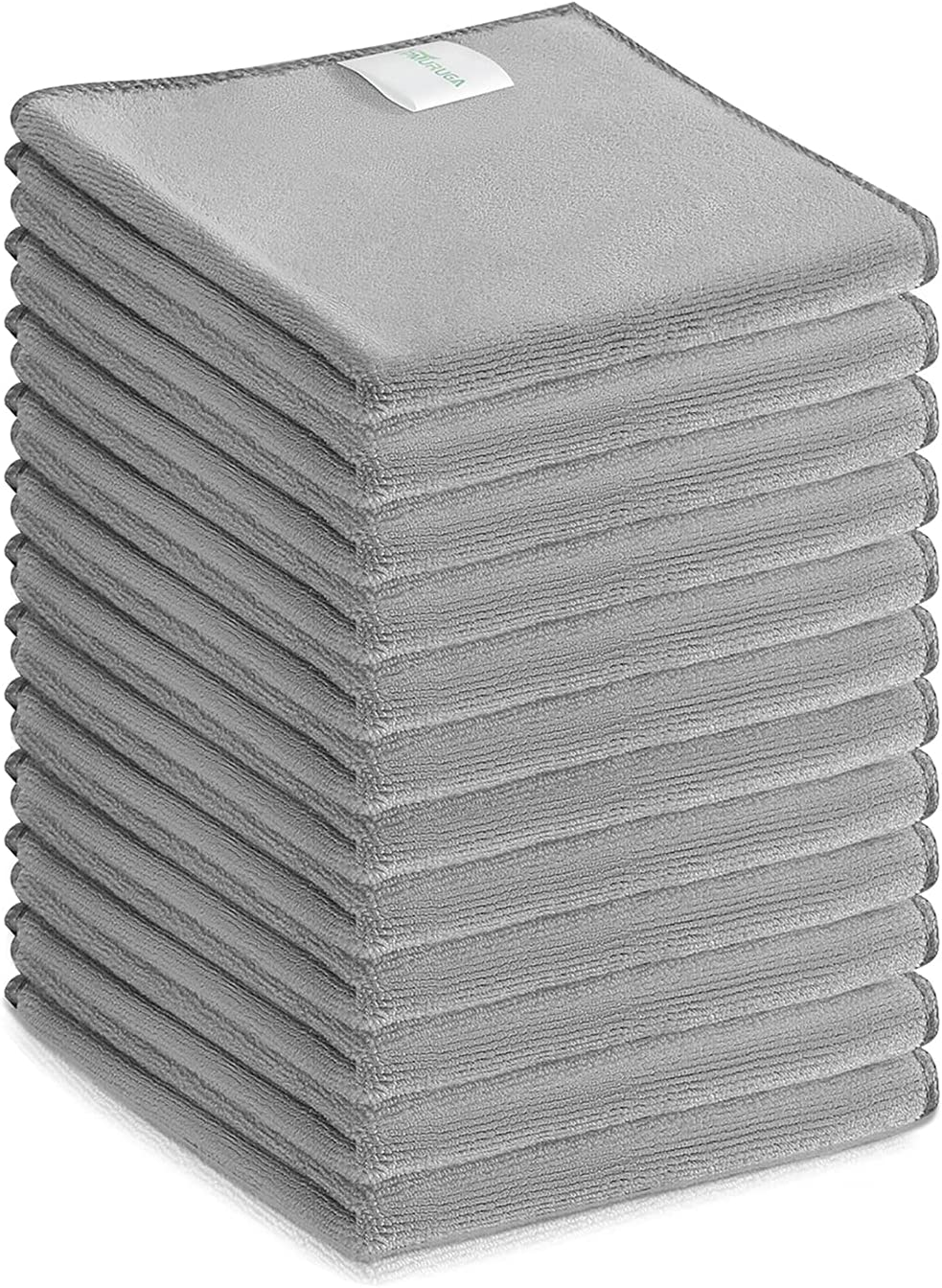Microfiber Cleaning Cloths | Easy Clean Cloth All-Purpose Dust Dirt Cleaning Rags| Super Absorbent Dish Cloth Kitchen Towels| Ultra Soft Hand Towel Makeup Remover Cloth| (Pack of 12) Grey