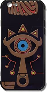 The Legend of Zelda Sheikah Slate Eye Cell Phone Cases Blue Glass Back Cover For iPhone 7 Plus iPhone 8 Plus