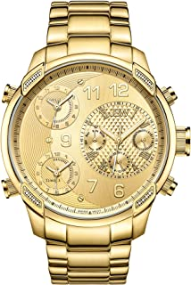 JBW Luxury Men's G4 16 Diamonds Multi-Time Zone Watch
