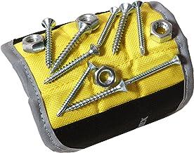 Magnelex muñequera magnética para celebración de herramientas, tornillos, clavos, tornillos, taladros de perforación, manitas 11.2 x 4.1 x 0.1 pulgadas amarillo